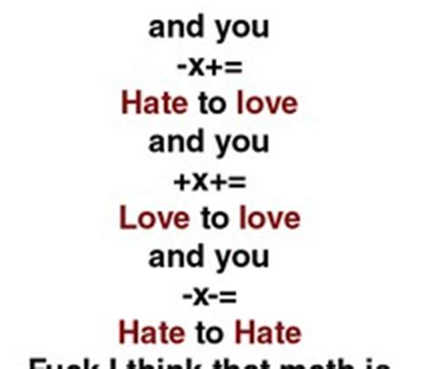 Thesis on love and hate
